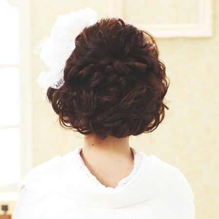 【花嫁和装ヘア】王道編み込みスタイルをくずしてアレンジ