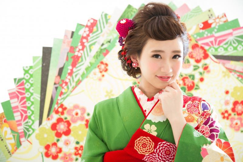 和装×日本髪風スタイル