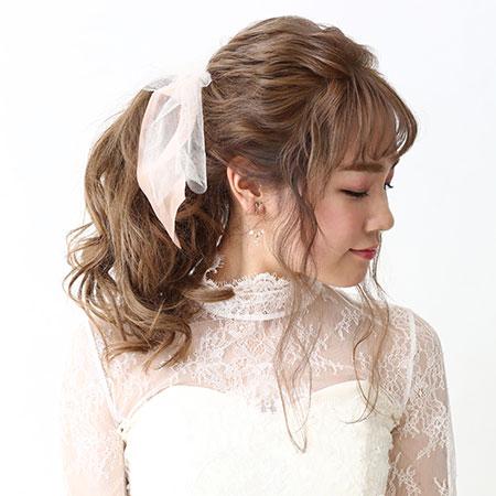 洋装ロングヘアサイド