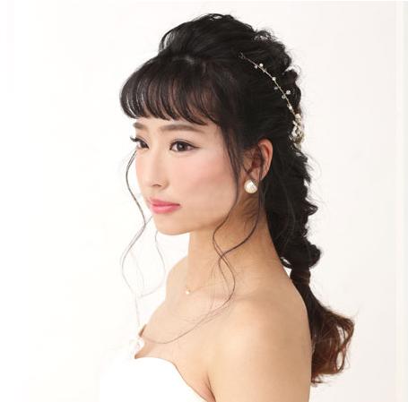 女子力満載な編み下ろしヘア☆01