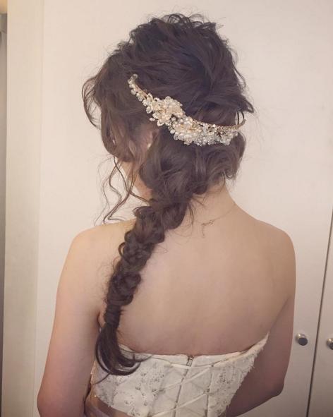 女子力満載な編み下ろしヘア☆02