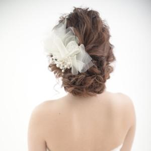 洋装ミディアムヘア